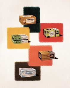 FFFFOUND! | :: Dan Shepelavy :: | this, that, and also, etc :: #butter #50s #vintage #advertising