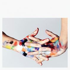 plenty of colour #paint #colour #hands