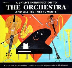 All sizes | A Child's Introduction to the Orchestra | Flickr - Photo Sharing! #design #graphic #cover #illustration #music