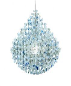 Lighting designer stuart haygarth london berlin #water #haygarth #bottles #chandelier #stuart