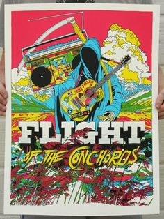 conchords_santabarbara.jpg (800×1063) #flight #of #the #illustration #poster #tyler #stout #conchords