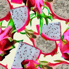 Dragon-fruit Pattern #dragon #pattern #juicy #fruit #summer