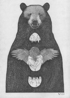 Ocho Cuervos #bear #white #black #hard