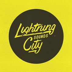 Lightning City Sounds by http:bravepeople.co #lettering #city #logo #people #sounds #illustration #lightning #identity #vintage #drawn #music #type #brave #hand #typography