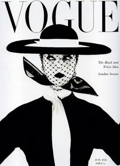 Vogue June 1950 | MODESQUISSE #white #black #cover #illustration #and #fashion