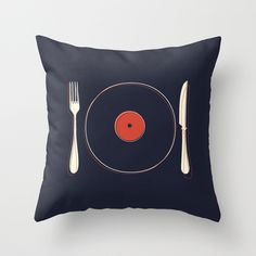Vinyl Food - throw pillow