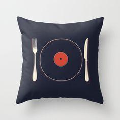 Vinyl Food - throw pillow