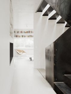 Hallway next to stairwell. The Marly House by KARAWITZ. © Schnep Renou. #hallway #stairwell #staircase