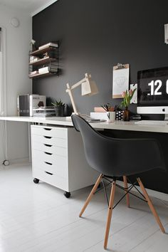 Decorating tips: Contrasts #home office #workspace #desk