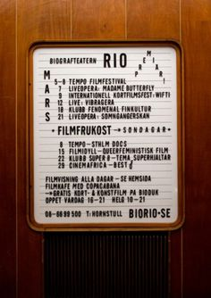 typography #stockholm #sweden #cinema #bio rio