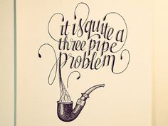 Hand Lettered Typographic Illustrations By Sean McCabe #illustration #lettering #pipe #sketchbook