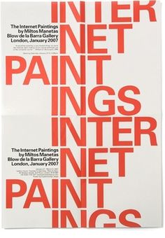 MM / Internet Paintings - Experimental Jetset #poster #experimental jetset #internet paintings