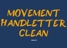 Movement Handletter - by:nasart on Behance