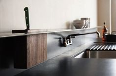 Lyla & Blu #interior #design #black #wood #kitchen