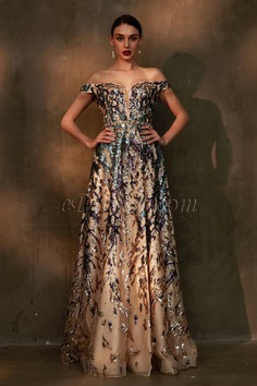 eDressit Gorgeous Beaded Off Shoulder Shiny Prom Gown (02202768)