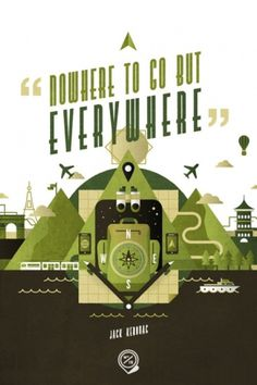 Wander Blog #train #water #wander #illustration #plane #poster #type #compass