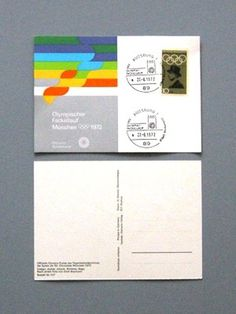 Otl Aicher 1972 Munich Olympics - Postcards #otl #aicher