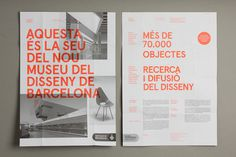 DHUB Leaflet (Print, Identity) by Lo Siento Studio, Barcelona #print #typography #poster #grid #fluorescent