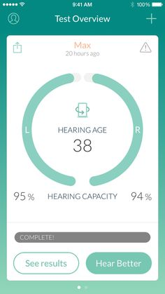 Hearing test overview page #green