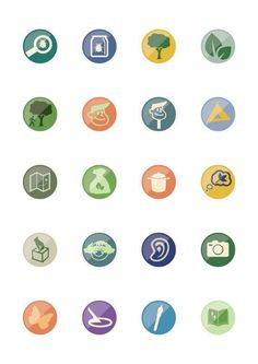Some flat icons I'm kicking around #flat #heritage #wildlife #design #icons