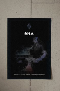ERA #design #graphic #electronic #flyers #poster #music #logo #dark #party