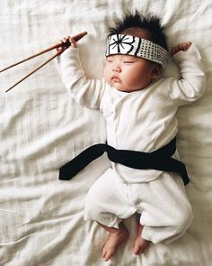 Laura Izumikawa Dresses Her Napping Baby in Cosplay Outfits