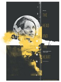 The Head and the Heart concert poster by Invisible Creature