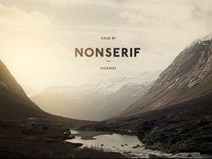 Dribbble - Nonserif - Word mark by Henning Gjerde