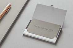 Marangoni Gino | Personal Brand. #lettering #typeface #monogram #logodesign #personalbrand #copper #hotfoil #elegant #sober #businesscards
