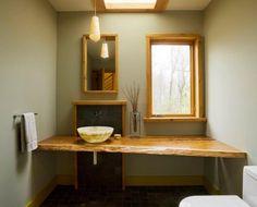 Studio III architects #iii #salvaged #live #edge #sink #architects #counter #cherry #vessel #studio