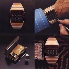 HP-01 Digital Wristwatch Calculator | Colorcubic #colorcubic #hp #70s #01 #calculator #time #watch #wristwatch