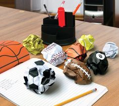The Crumple Ball Notepad consists of 48 sheets, each with one side ruled and the other printed from your favourite sports! Making office wor #product #fun #design #lifestyle