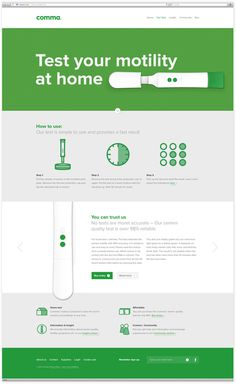 Comma #interactive #comma #website #grid #product #web #green