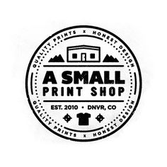 A Small Print Shop Logo #logo #badge #print shop