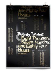 Mash Creative Gold Edition A1 2012 Calendar on the Behance Network