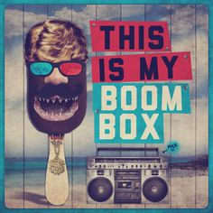 BOOMBOX on Behance #cream #photography #ice #collage #funny #boombox
