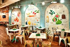 Restaurant so Luxuriantly Adorned with Graffiti wall hand painted recipes