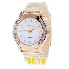 Men #Gold #Mesh #Quartz #Watch #Women #Metal #Stainless #Steel #Dress #Watches #- #WHITE