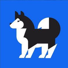 Husky Illustration by Hey Studio #dog #husky #illustration #animal #icon #iconic #pet