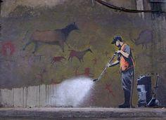 Dropular - Media Bookmarking #commentary #graffiti #banksy
