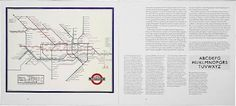 ken garland & associates:graphic design:capital transport #london #tube #map #spread #vintage