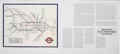 ken garland & associates:graphic design:capital transport #london #tube #map #spread #vintage
