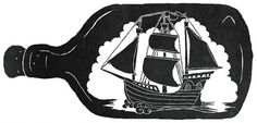 Black And White, Daniel Stolle's Portfolio #stolle #bottle #illustration #boat #daniel