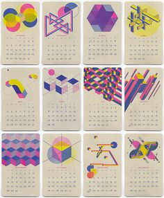 geometric design calendar - Google Search #geometric