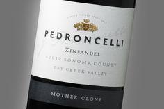 Pedroncelli ~ Wine Label Design