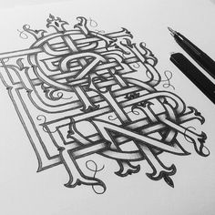 Enisaurus Monogram · Work in progress of my personal monogram built with all the letters of my name. #monogram #lettering #sketch #typography