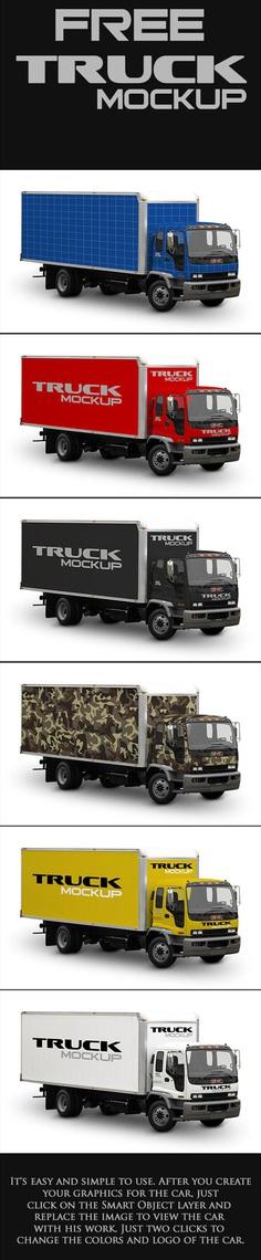 Free Mock-Up Truck Cargo