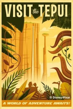tepui.jpg (image) #illustration #travel #vintage #pixar