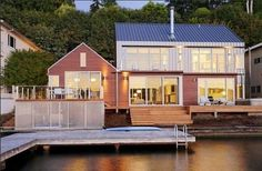 Beautiful Residence on Lake Washington Designed By Johnston Architects - Architecture Things