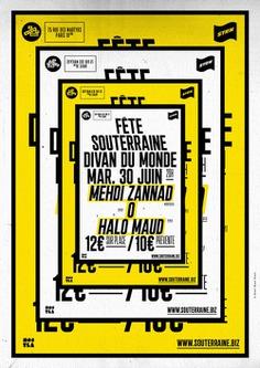 © Rémy Poncet / Brest Brest Brest La Souterraine / Fête Souterraine poster series